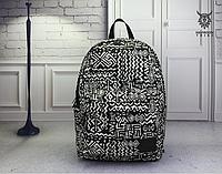Городской рюкзак Орнамент черно-белый 124