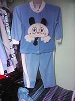 Велюровый костюм ясельный мальчику 3-6 6-9мес