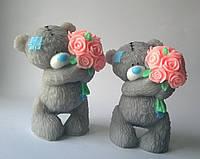 Мыло Тедди с букетом роз