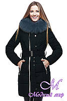 Женская удлиненная зимняя куртка батальных размеров (р. 44-56) арт. Пейтон