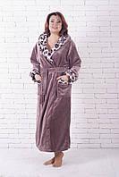 Шикарный длинный халат с капюшоном