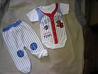 Костюм хлопок для новорожденного боди короткий рукав и ползуны