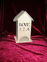 Чайный домик заготовка для декупажа (10 х 10 х 23 см)
