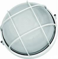 Светильник ЖКХ LEMANSO круг металлический 60W с решеткой BL-1302 белый