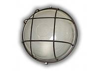 Светильник ЖКХ LEMANSO круг металлический 60W с решеткой BL-1302 черный