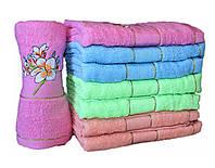 """Махровое полотенце для лица """"цветы""""  №Л-43"""