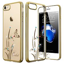 Чехол накладка силиконовый Beckberg Breathe для Apple iPhone 5 5S SE Orchid