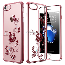 Чехол накладка силиконовый Beckberg Breathe для Apple iPhone 5 5S SE Rose