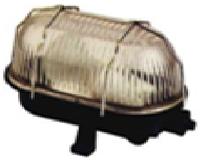Светильник ЖКХ LEMANSO овал металлический решетка 60W черный BL-1412 + защелка черный