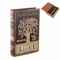 """Книга - сейф с замком """"Дерево пожеланий"""", 26*17*7см."""