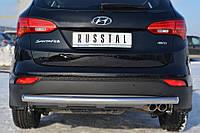 Защита заднего бампера для Hyundai Santafe 2013