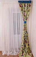 Готовый комплект штора, тюль и скатерть