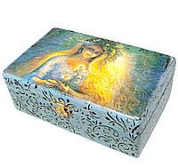Шкатулка деревянная для украшений Лада