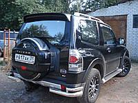 Защита заднего бампера (двойной угол) для Mitsubishi Pajero Wagon 4