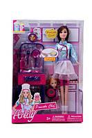 Кукла lh017-1-2 з донькою, кухня, посуд, 2 види, кор., 23-32,5-6 см.