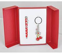 Набор подарочный (ручка шариковая +брелок) Cherry Langres LS.122016-05 (красный)