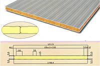 Сэндвич панель стеновая тип S базальт 80 мм