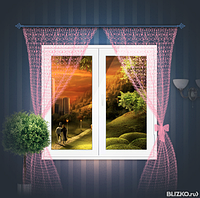 Металлопластиковое окно КВЕ 1300*1400 3-х камерное