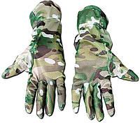Перчатки маскировочные из сетки Multicam(мультикам).