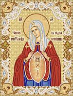 Ткань с рисунком для вышивания бисером Образ Пресвятой Богородицы В родах помощница  РИК-4008