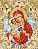 Ткань с рисунком для вышивания бисером Жировицкая икона Божией Матери РИК-4009