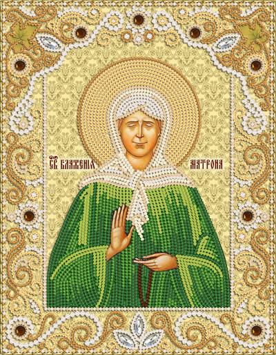 Ткань с рисунком для вышивания бисером Св. Блж. Матрона Московская РИК-4011