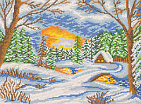 Ткань с рисунком для вышивания бисером Зимняя пора РКЗ-009