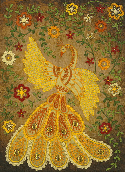 Набор для вышивания нитками Сказочная жар-птица НКШ-4010