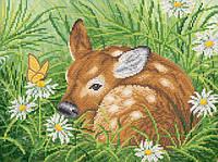 Ткань с рисунком для вышивания бисером Бэмби РКП-611
