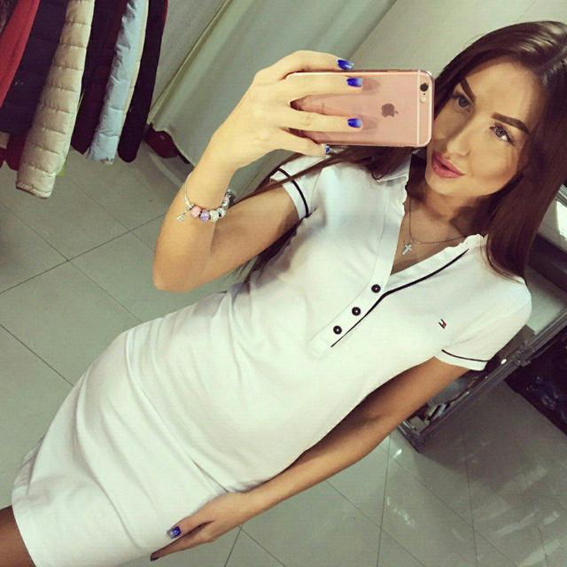 Спортивное платье с коротким рукавом и рубашечным воротником - Booms.com.ua - обувь, одежда, парфюмерия по доступным ценам. в Киеве