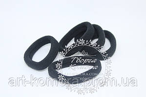 Резинки для волос черные. Внешний диаметр 4 см