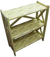 Этажерка деревянная 3-ярусная фисташковая Лаванда