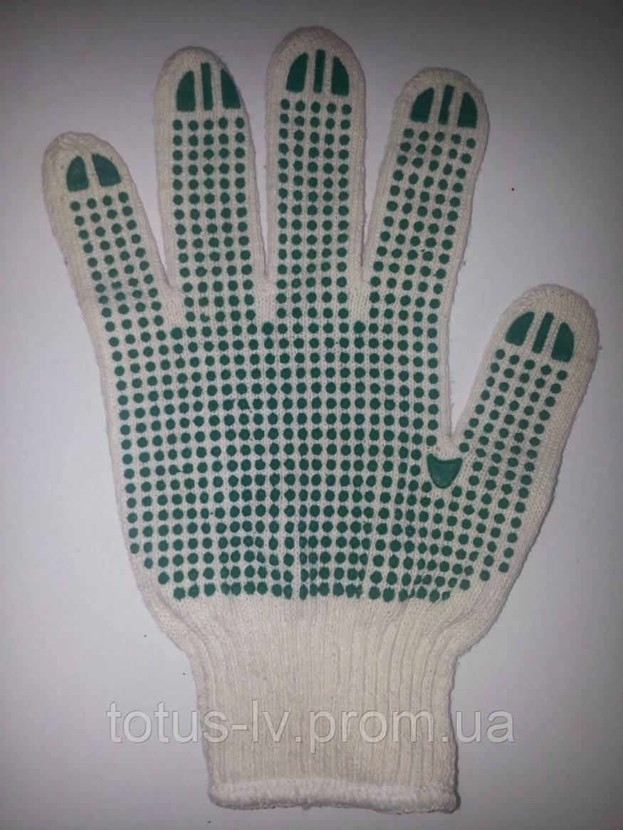 Перчатка с точками рабочая 105 белая