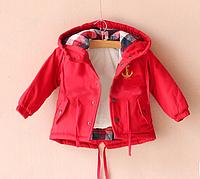 Куртка демисезонная детская Парка с жилеткой весна осень