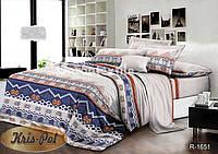 Комплект постельного белья 3D евро ранфорс, 100% хлопок. (арт.6535)