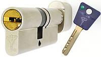Цилиндр Mul-t-lock 7x7 62мм (35x27T) ключ-тумблер никель-сатин