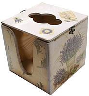 Салфетница квадратная деревянная Кувшин с лавандой