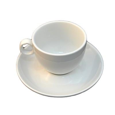 Чашка чайная с блюдцем белого цвета,  220 мл.