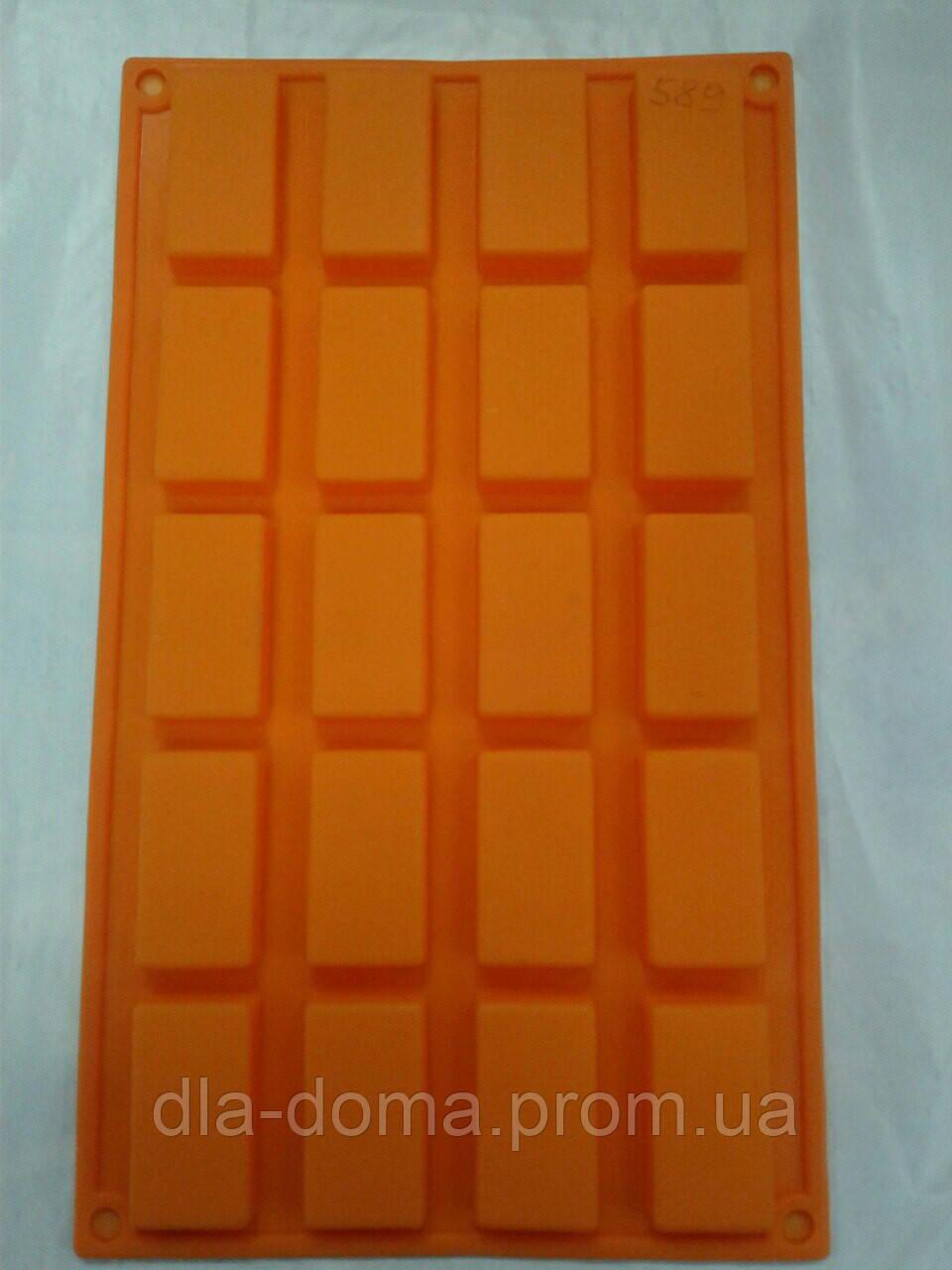 Силиконовая форма для конфет 20 ячеек