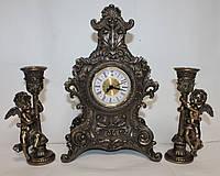 Каминный набор Veronese с часами и подсвечниками, ангелочками, фото 1