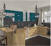 Кухня Шарлотта новинка Кухня 2,6 метров, дуб крафт золотой/индиго