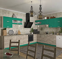 Кухня Шарлотта новинка Кухня 2,6 метров, дуб крафт серый/абсент