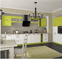 Кухня Шарлотта новинка Кухня 2,6 метров, фасад белый/цветной декор