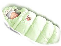 Конверт-пуховик Ontario Baby Inflated-A фланель (дутик 50х90) салатовый