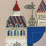 """Набор для вышивания крестом Риолис Панно для фотографии """"Рыцарский замок"""" 1617, фото 2"""