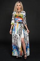 Платье шифоновое,с поясом с золотистой пряжкой. размер 44-46,46-48,48-50