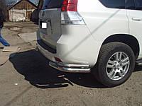 Защита заднего бампера (двойной угол) для Toyota Prado 150