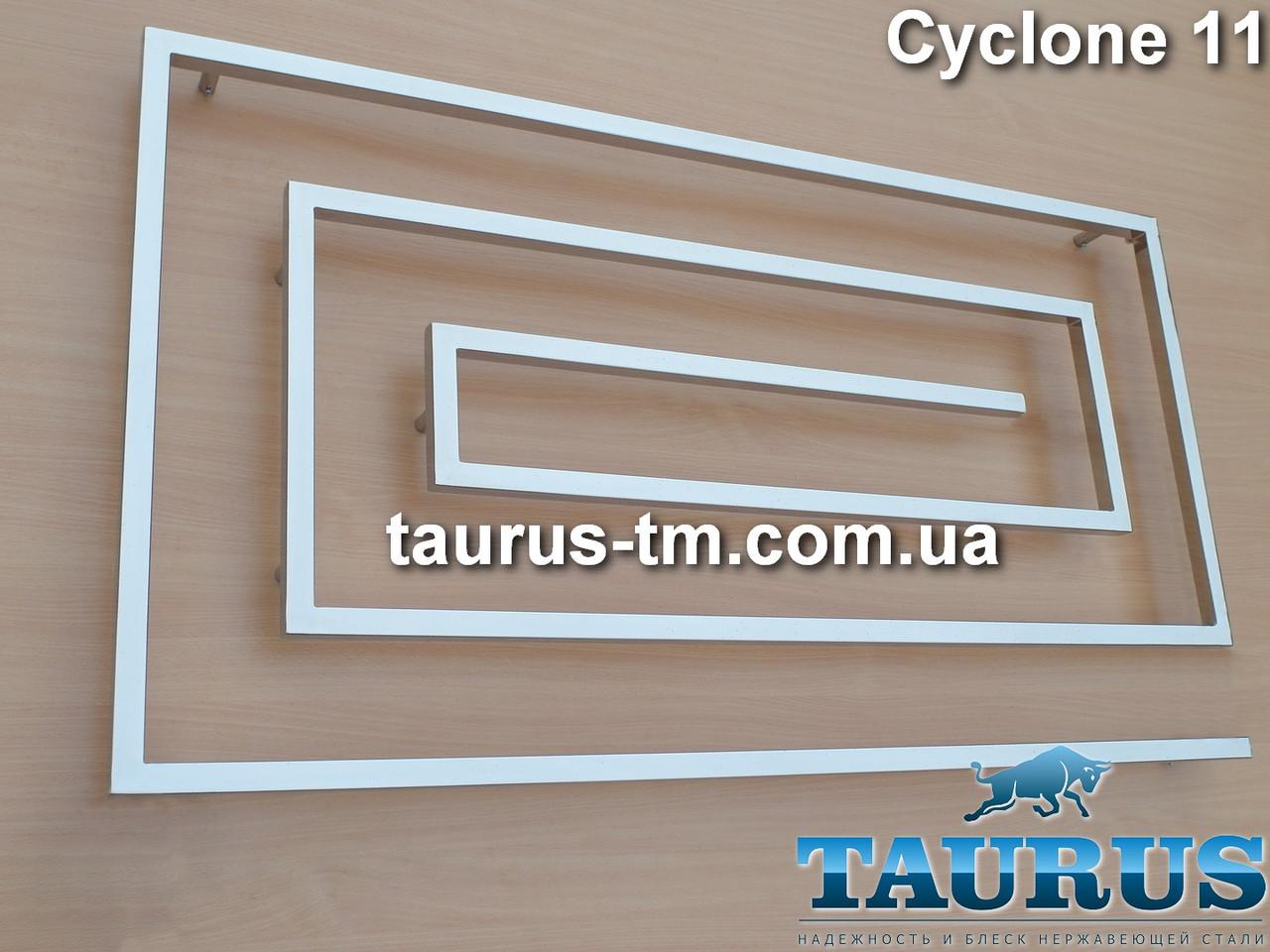 Шикарный широкий супер-полотенцесушитель Cyclone 11/830х1300 из нержавеющей стали. Квадратный дизайн