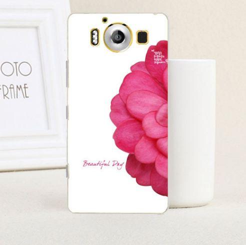 Силиконовый бампер чехол накладка с картинкой для Microsoft Lumia 950 Цветок