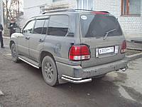 Защита заднего бампера (двойной угол) Toyota Land Cruiser 100